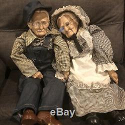 Couple Vintage Grand 31 Poupées Grand-père Et Grand-mère