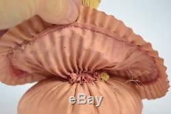 Demi Poupée Victorienne Vintage De 5,5 Pouces En Porcelaine Avec Coussin Épingle Rose