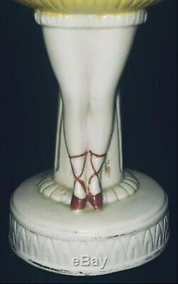Demi-figurine De Base En Demi-poupée En Porcelaine, Allemagne, Danseuse, Pinceau, Allemagne