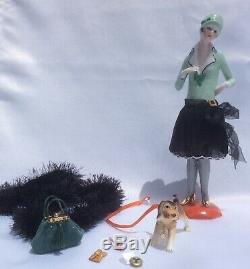 Demi-figurine Flapper En Porcelaine De Vtg Avec Jambes, Demi-figurine Teepuppe Artdeco