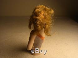 Demi-poupée Vintage En Porcelaine Allemande Avec Cheveux # Ba3