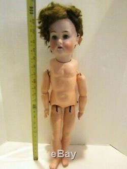 Doll Vintage 24 Pouces Simon Halbig K Étoile R Porcelaine Tête Se Déplace Corps Composition