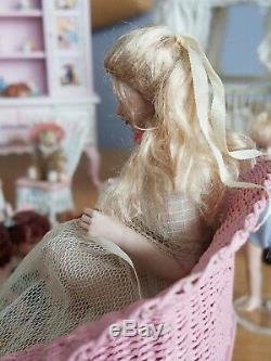 Dollhouse Miniature Artisan Susan Scogin Ooak Porcelaine Doll 112