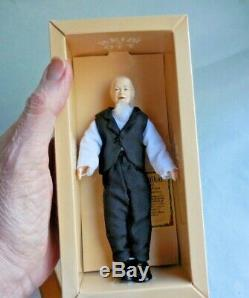 Dollhouse Miniature Heidi Ott Porcelain Doll Man Vintage