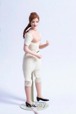 Dollhouse Miniatures Undressed Porcelain Female Doll Cheveux Rouges, Virginia Orenyo