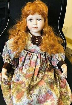 Edw Français Porcelain Doll 25 Pouces Numéro Vintage Sur Son Cou