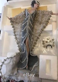 Erte Stardust Vintage Barbie Porcelaine Art Poupée Edition Limitée 1er Dans Une Série
