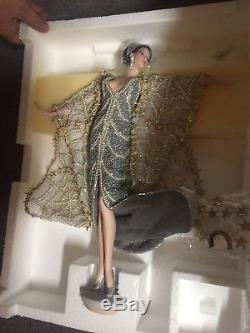Erte Stardust Vintage Barbie Porcelaine Art Poupée Edition Limitée 1ère Série Withbox