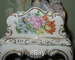 Exquis Vintage La Lettre Irlandaise Dresde Lady Figurine En Porcelaine