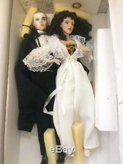 Fantôme Vintage De L'opéra Franklin Poupées En Porcelaine Heirloom Rare Htf 1986