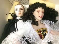 Fantôme Vintage De L'opéra Poupées Franklin Heirloom En Porcelaine Rare Htf 1986