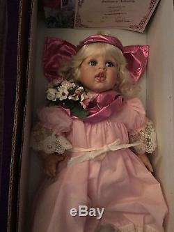 Fayzah Spanos Doll Cupid 1994 Retraité, Vintage Coa, Signé, Boîte, Handtag