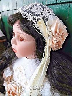 Fayzah Spanos Porcelaine Vintage Repro Poupée Bride Collector 31 Po. 1995 194/200