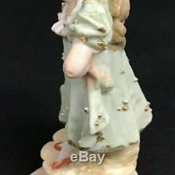 Figure De Fille Féminine En Porcelaine Vintage Shirley Temple Estate