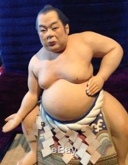 Figurine De Poupée En Porcelaine Japonaise Vintage Sumo Hakata Sumo Champ