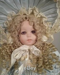 Français Jumeau Vintage 1996 Patricia Loveless Porcelaine Poupée 18 Blonde Bleue Dres