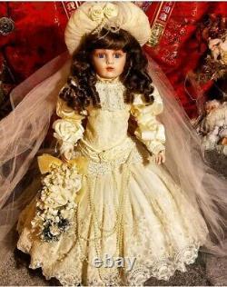 Franklin Mint Bru La Mariée 1991 Reproduction Vintage Victorienne Française Doll