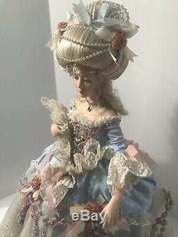Franklin Mint Marie Antoinette Porcelaine Poupée De Collection Rare Vintage Français