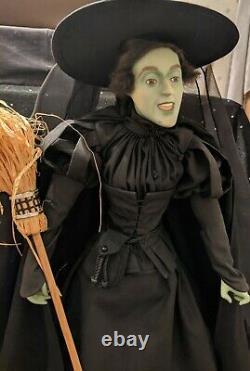 Franklin Mint, Wicked Witch Of The West, Du Magicien D'oz, Poupée De Porcelaine