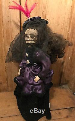 Georgiana Extra Large Tête De Mort Retraite Poupée Vintage Gothic Ooak