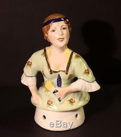 Grand Rare Vintage Allemand Karl Ens Boudoir Porcelaine Demi Poupée Thé Cosy