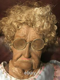 Grand-mère - Grand-père Unique Strange Old Man Woman Odd Weird Creepy Rare Dolls 36