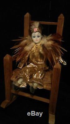 Hanté Antique / Vintage Porcelaine Clown Esprit Bouffon Poupée Esprit
