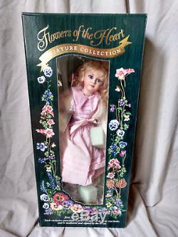 Jan Mclean Primrose II Fleurs Du Coeur Rare 1996 Porcelain Doll Coa Box Vtg