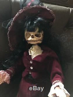 Katherine Édition Spéciale Skull Dolly Vintage Poupée Rembourrée Ooak Gothic
