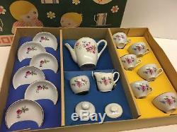 La2 / Vintage Poupée Maman Poupée Café Service À Thé Vaisselle Porcelaine Ensemble Antique