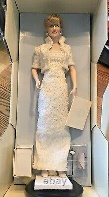 Lady Diana Princess Of Wales Poupée De Porcelaine Franklin Mint Onf