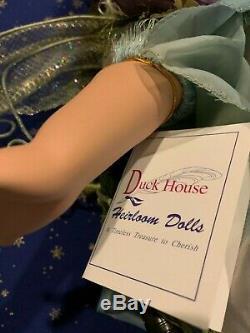 Lampe De Fée Poupée Vintage Rare Duck House Heirloom En Porcelaine À L'état Neuf Avec Cova Et Boîte
