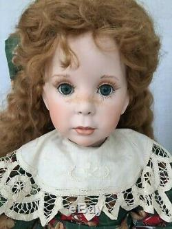 Linda Rick 24 Porcelain Doll Red Hair Clare Withbear Signé # 86/500 5/97