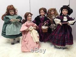 Little Women 5 Poupées En Porcelaine Amy Beth Meg Jo Marmee Ashton Drake Vtg1938 Livre