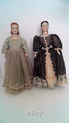 Little Women Dolls Vainqueur En Porcelaine À La Main Vintage Mary Fawn Zeller