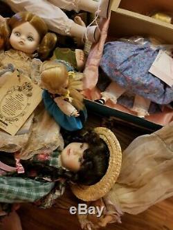 Lot De Poupées Vintage Madame Alexander, Porcelaine, Vinyle, Tissu