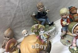 Lot De Vintage Énorme Porcelain Enfants Figurines 1950 Cupie & Dolls Piano