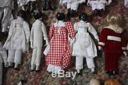 Lot Vintage De 24 Silvestri Ceramic Dolls Parts Some New