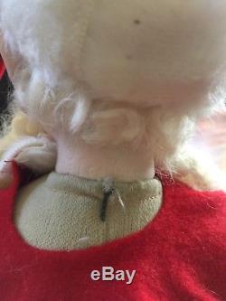 Lucille Garrard L. E. Poupée En Porcelaine Santa Elf Like Face 1979 Vintage