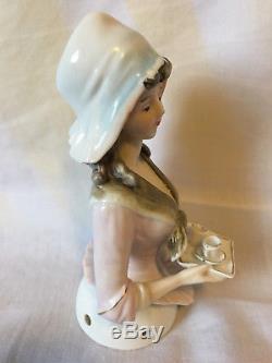 Magnifique Poupée En Porcelaine Vintage Galluba & Hofmann En Chocolat