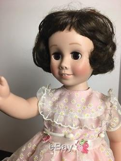 Mbi Vintage Talking Chatty Cathy 17 Poupée En Porcelaine Marron Bob Brown Eyes