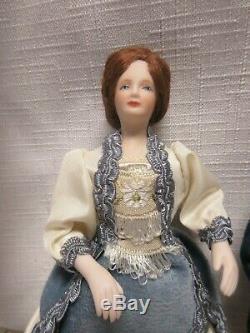 Miniature Vintage Dollhouse Porcelain Doll Famille De 5 Artisan Made Victorienne