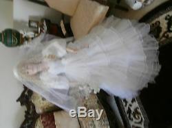 Objet De Collection Vintage Article Heirloom Doll Rare Mariée De 4 Pieds De Haut