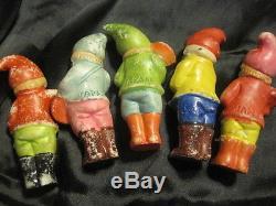 Old 5 Porcelain Vintage 3-3.5 Figurines De Musicien Fabriquées Au Japon, Peinture Originale