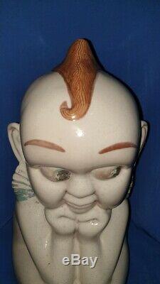 Old Vintage Big Taille Porcelaine Céramique Kewpie Doll De L'inde 1950