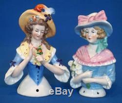 Paire De Coussin En Poupée Demi-coussin En Porcelaine De Porcelaine Vintage
