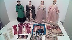 Petites Femmes Poupées À La Main, Gagnantes Du Prix Mary En Porcelaine Faite À La Main Fawn Zeller
