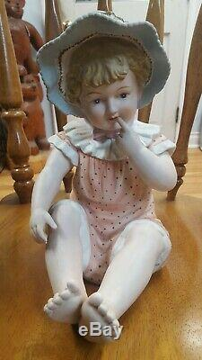 Piano Vintage Girl Ceramic Doll Andrea Par Sedek 6161 Porcelaine Figurine Statue