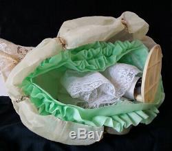 Pincassion Vintage En Porcelaine, Demi Poupée Liquidation Lottie, Lottchen