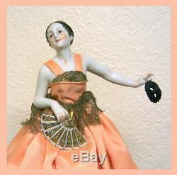 Pinceau De Porcelaine Vintage Allemand Moitié Poupée Liquidation-danseuse Fanny Elssler